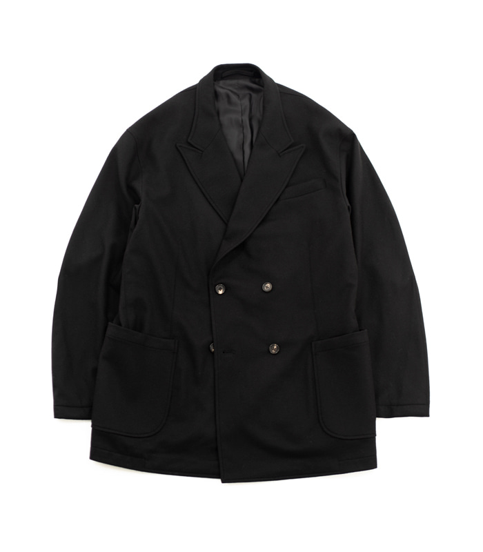 브라운야드 Utility Double Breasted Jacket_Black