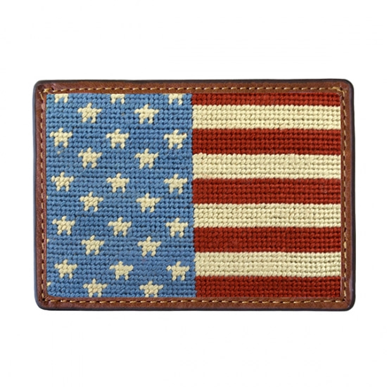 SMATHERS&BRANSON_Stars and Stripes Needlepoint Card Wallet