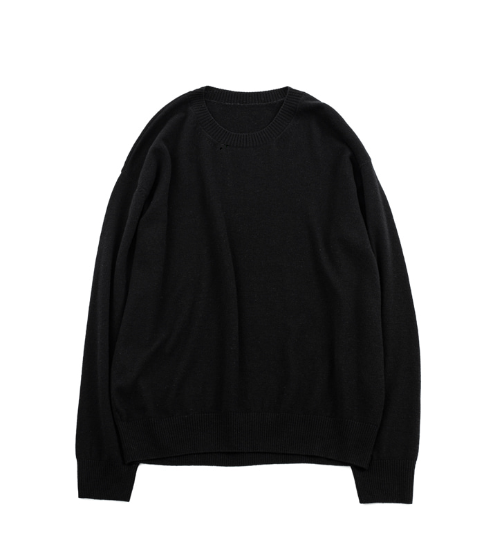 브라운야드 Crewneck Knit_Black