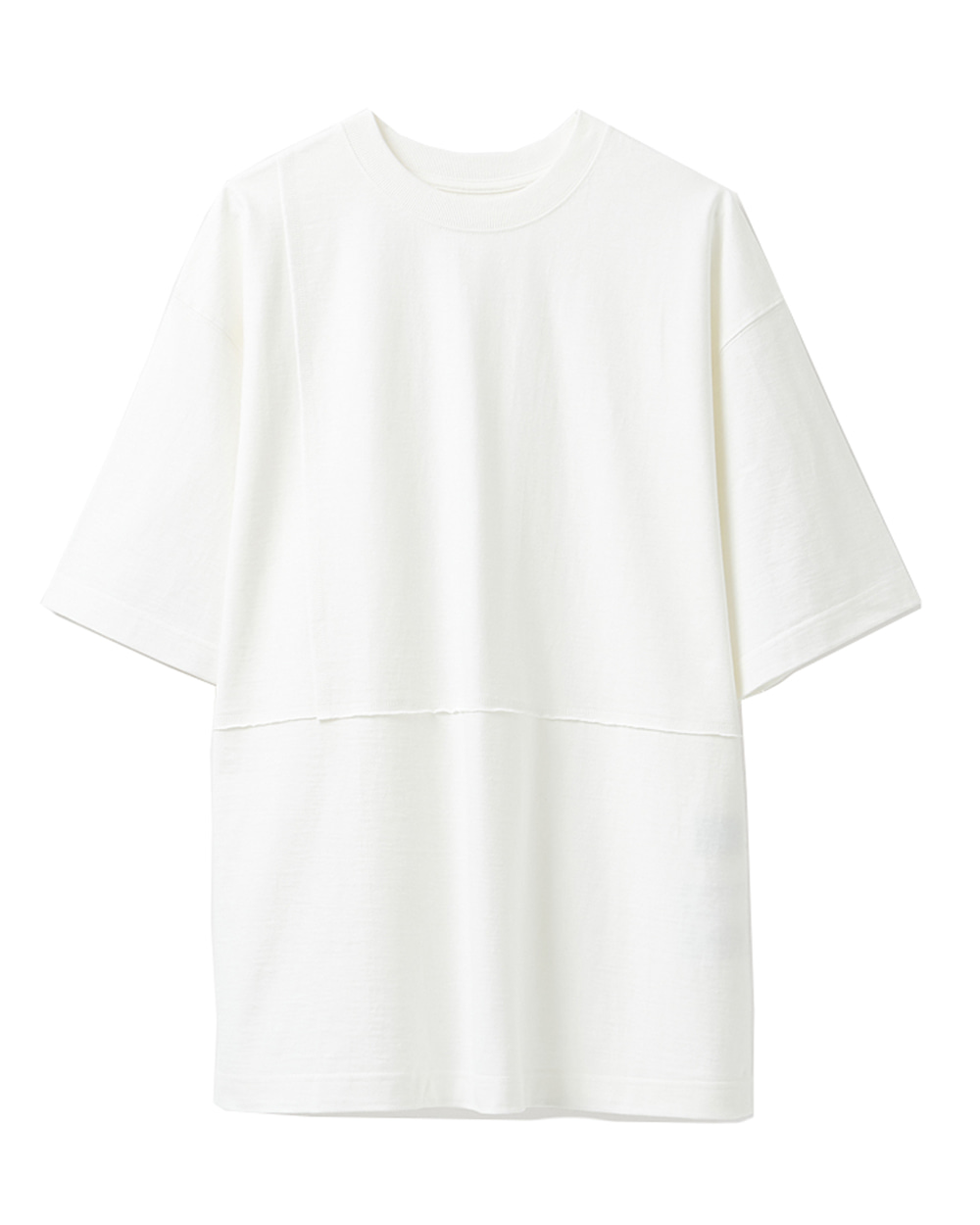 유스 Cut-off T-shirt (White)