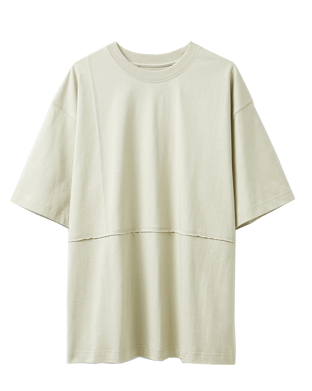 유스 Cut-off T-shirt (Beige)