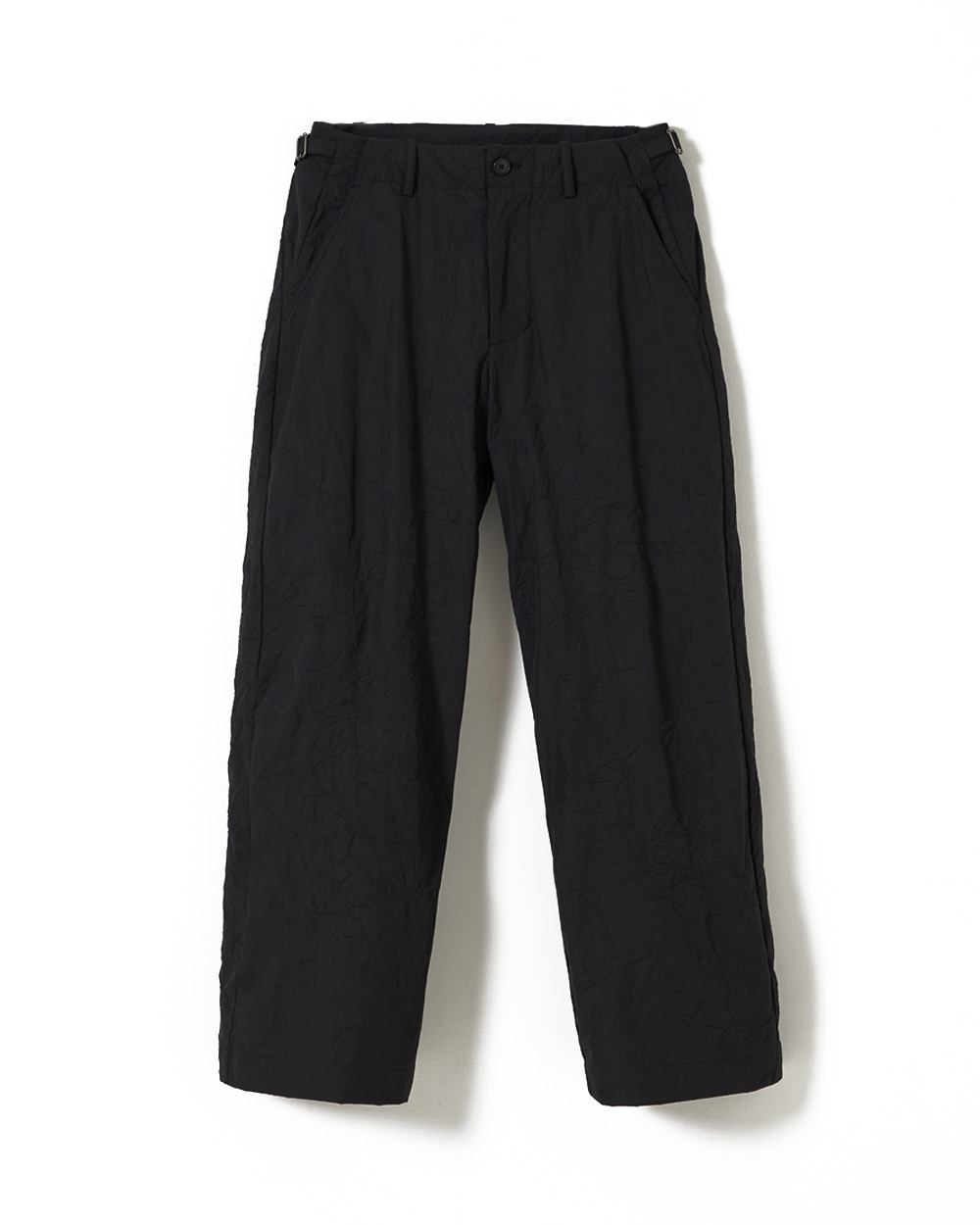 유스 Wide Chino Pants (Black Crease)