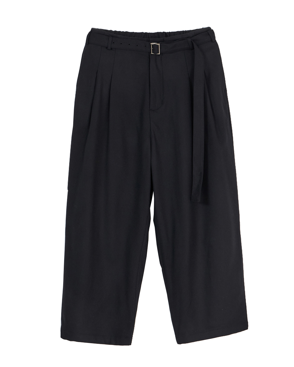 유스 Belted Loosed Pants (Black)