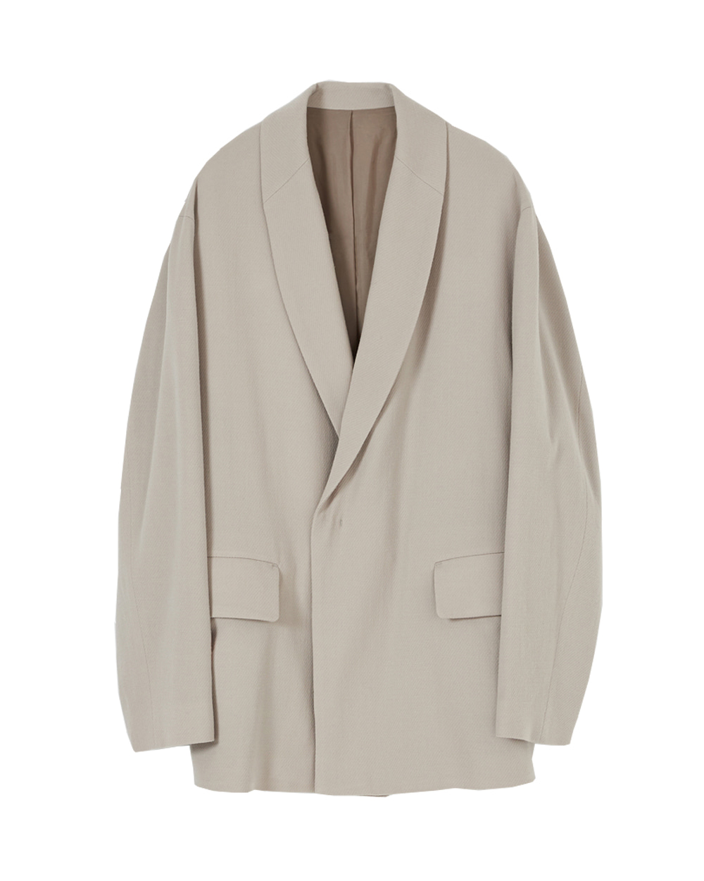 유스 Shawl Collar Jacket (Beige)