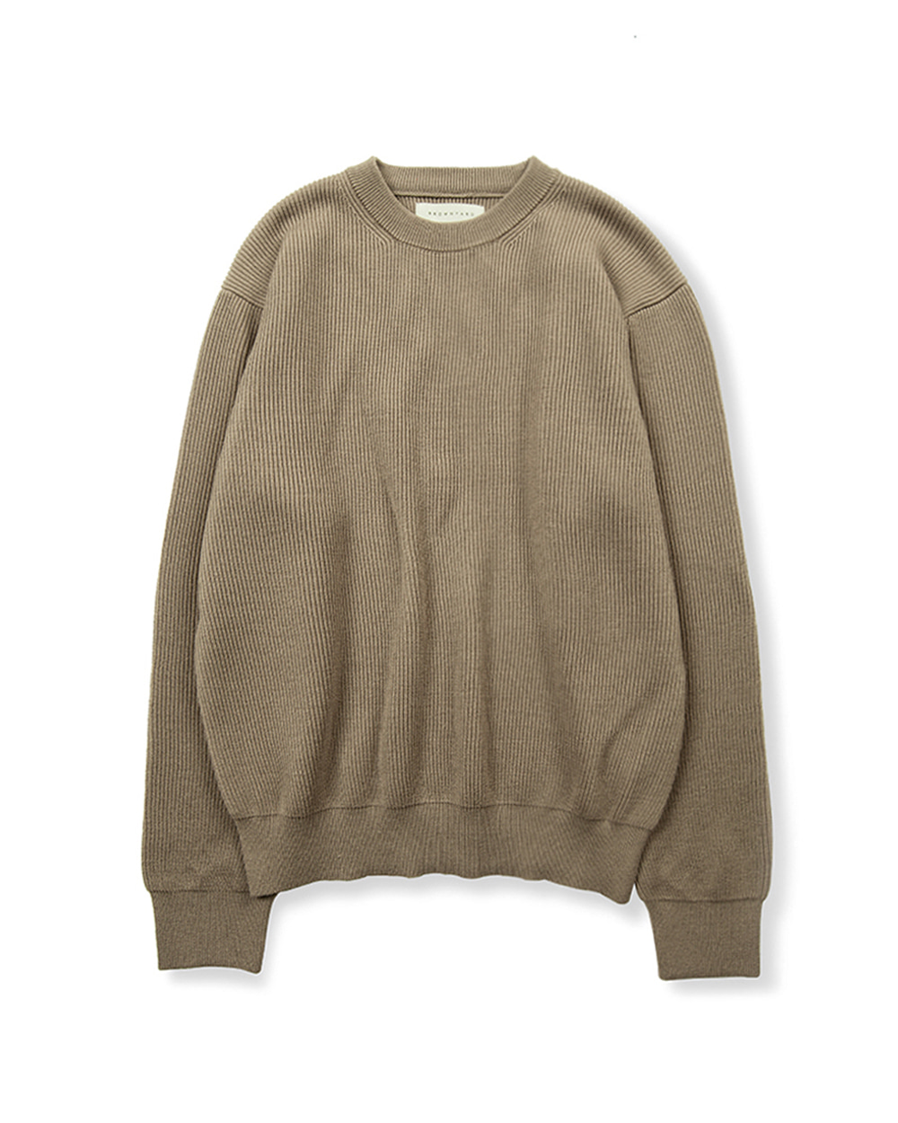 브라운야드 ESSENTIAL SWEATER (Dark beige)