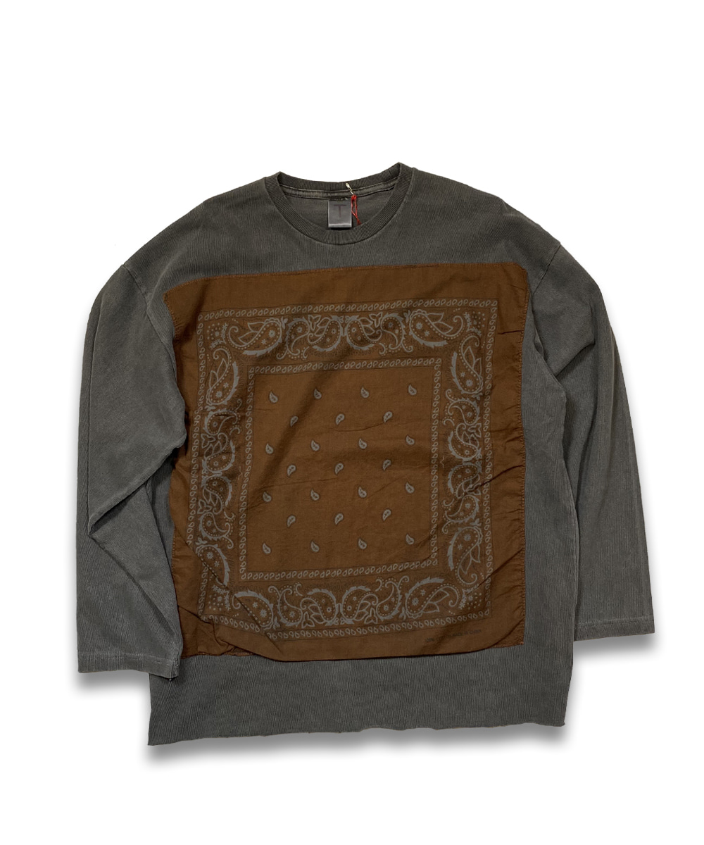 벌스데이수트 Vintage Bandana Long Sleeve (Charcoal)_TYPE 33