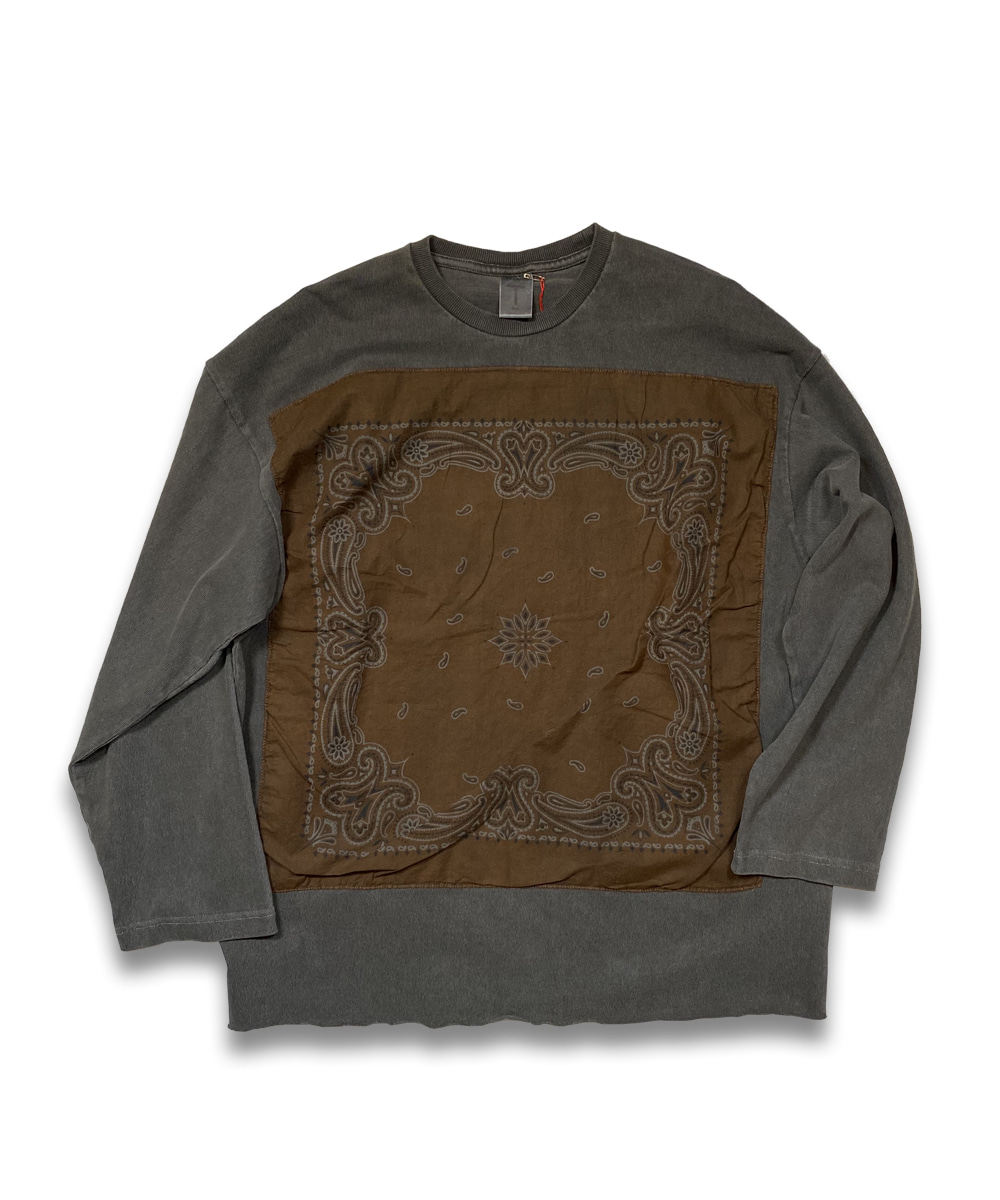 벌스데이수트 Vintage Bandana Long Sleeve (Charcoal)_TYPE 32