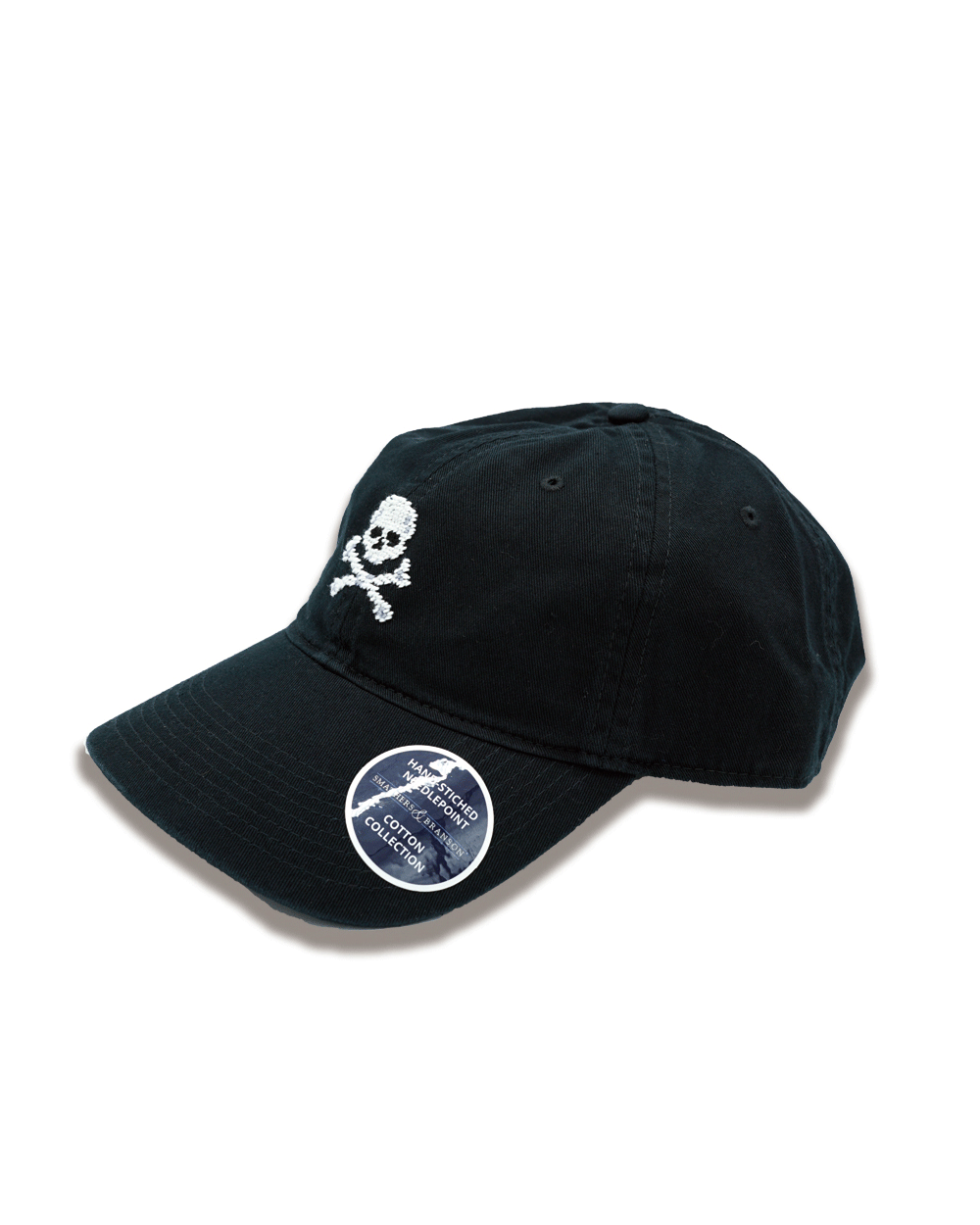 SMATHERS&BRANSON Jolly Roger Needlepoint Hat (Black)