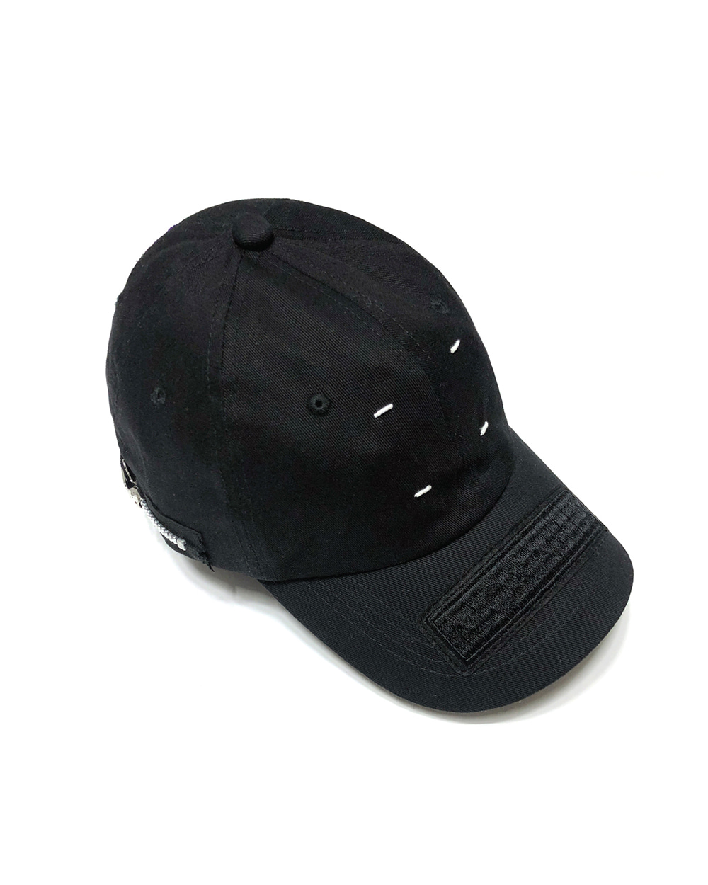 GOOD NEWS HAND STITCH ZIPPER CAP (Black)