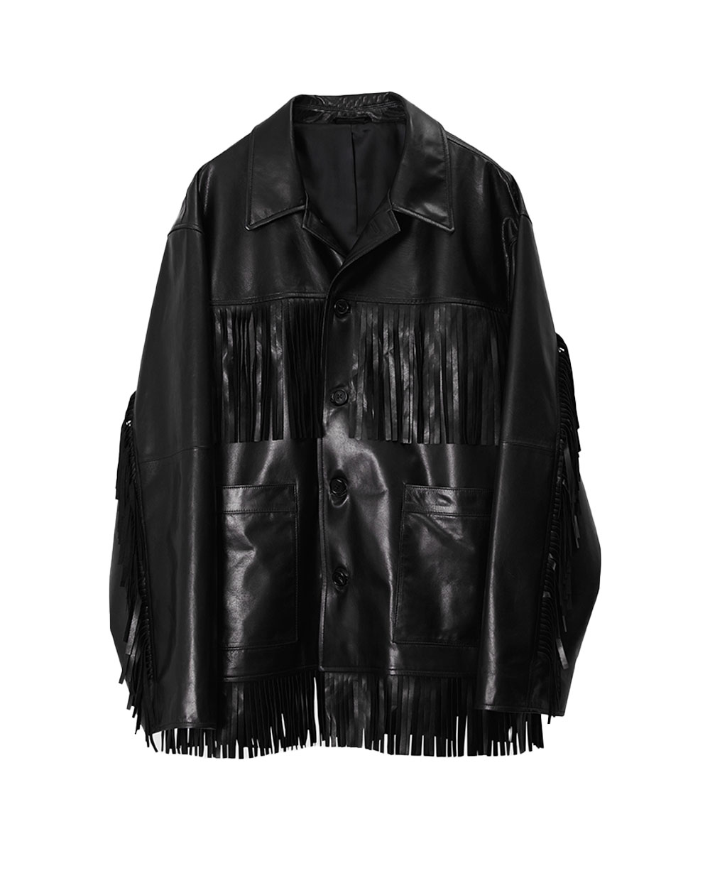 브라운야드 Western Fringe Jacket  (Black)