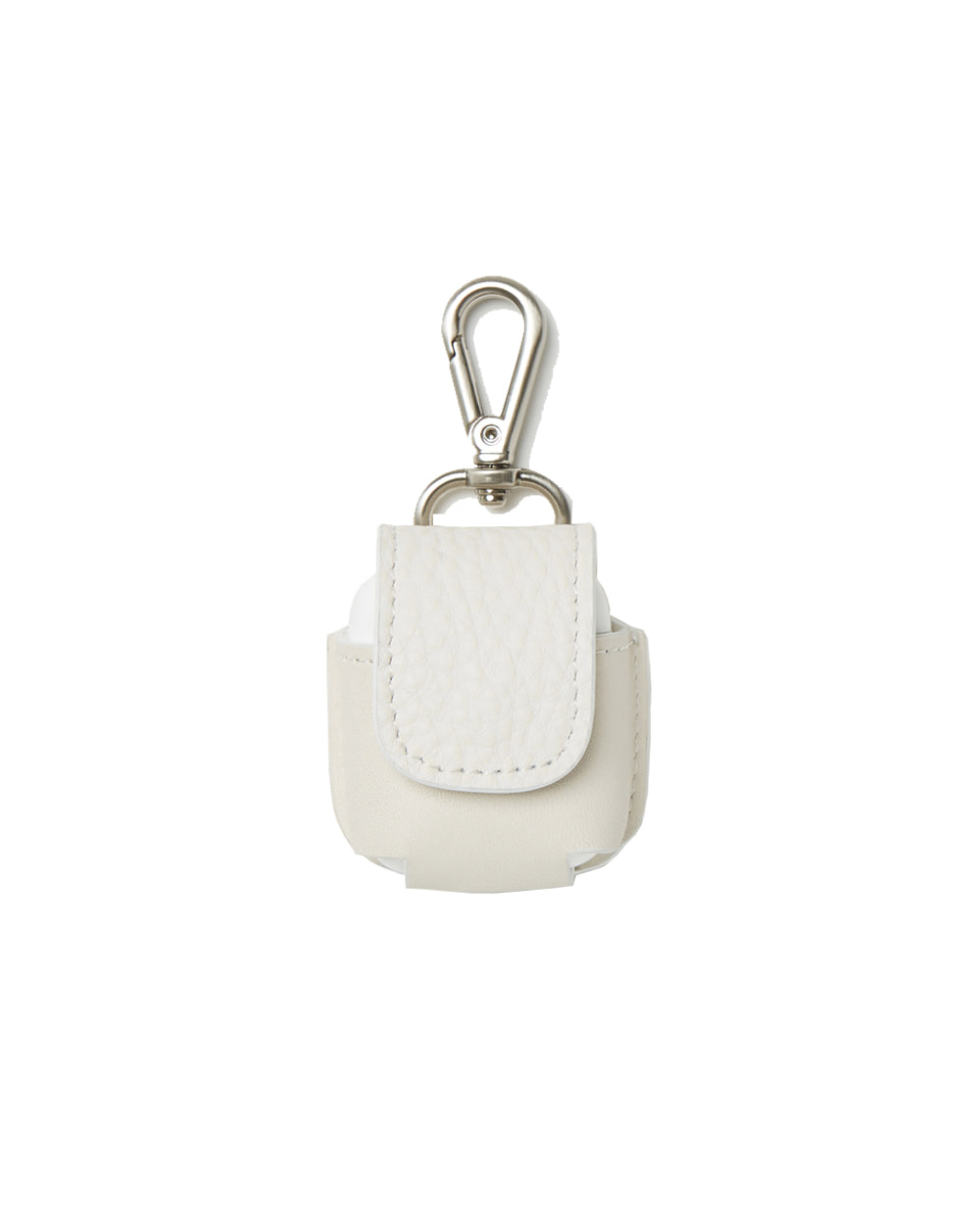 유스 Leather Airpods Case (White) _ RESTOCK